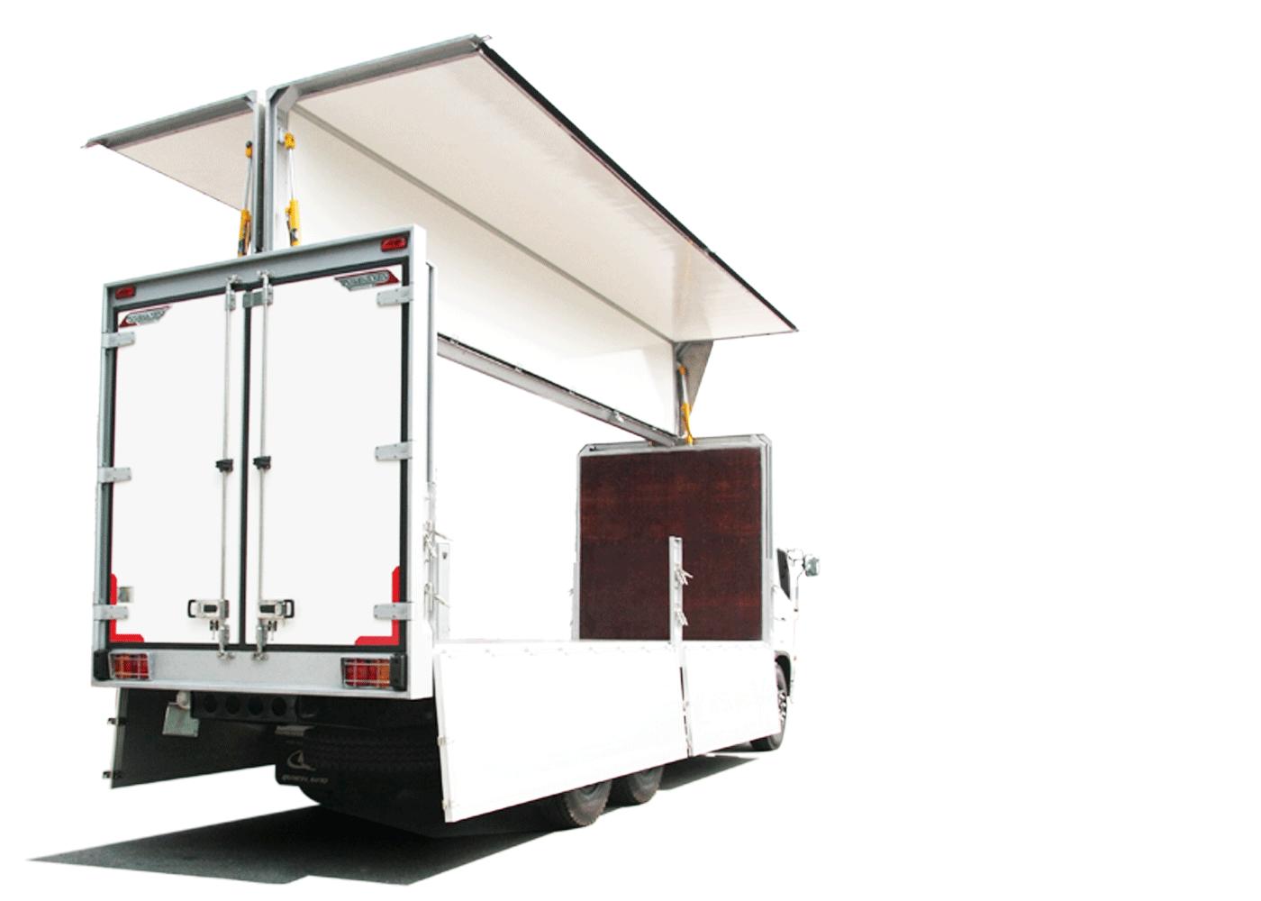 xe thiết kế thùng cánh dơi