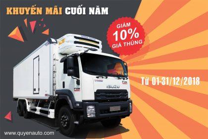 khuyến mãi giảm giá 10% thùng xe tải tại quyền auto