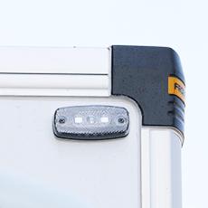 đèn tín hiệu phía trước thùng xe tải