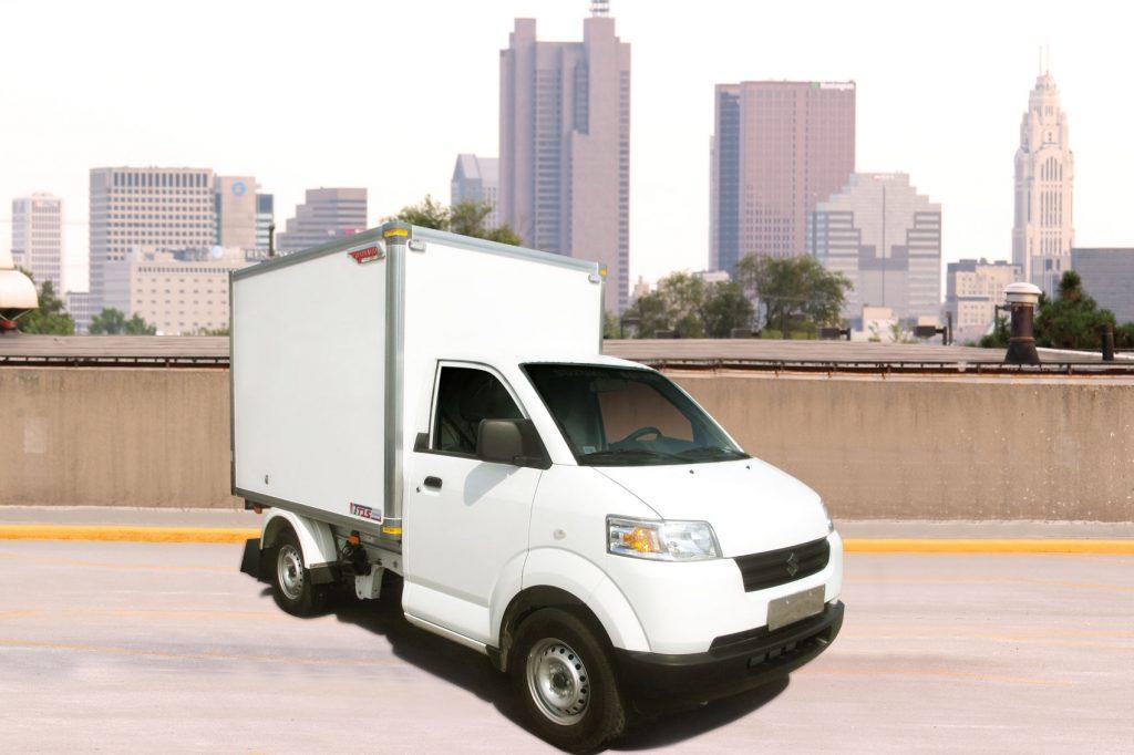 Thùng xe tải kín trên nền xe Suzuki