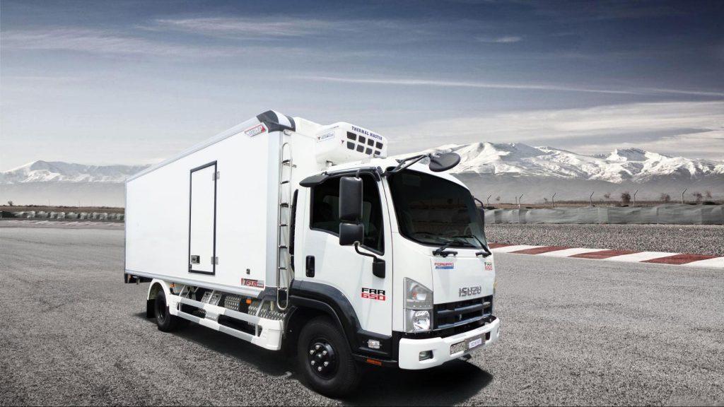 xe tải thùng đông lạnh ISUZU FRR90NE4