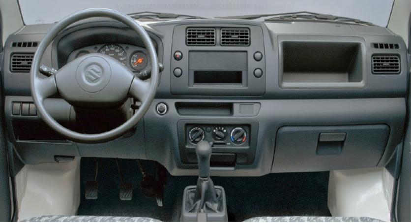 Nội thất buồn lái của xe thùng đông lạnh thương hiệu suzuki dòng carry pro phiên bản 2019