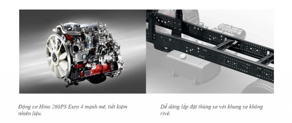 Đặc tính nổi bật của xe tải hino FG8JT7A