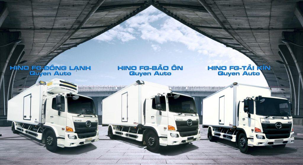 thùng xe Hino FG đông lạnh, bảo ôn, tải kín được đóng bởi quyền auto