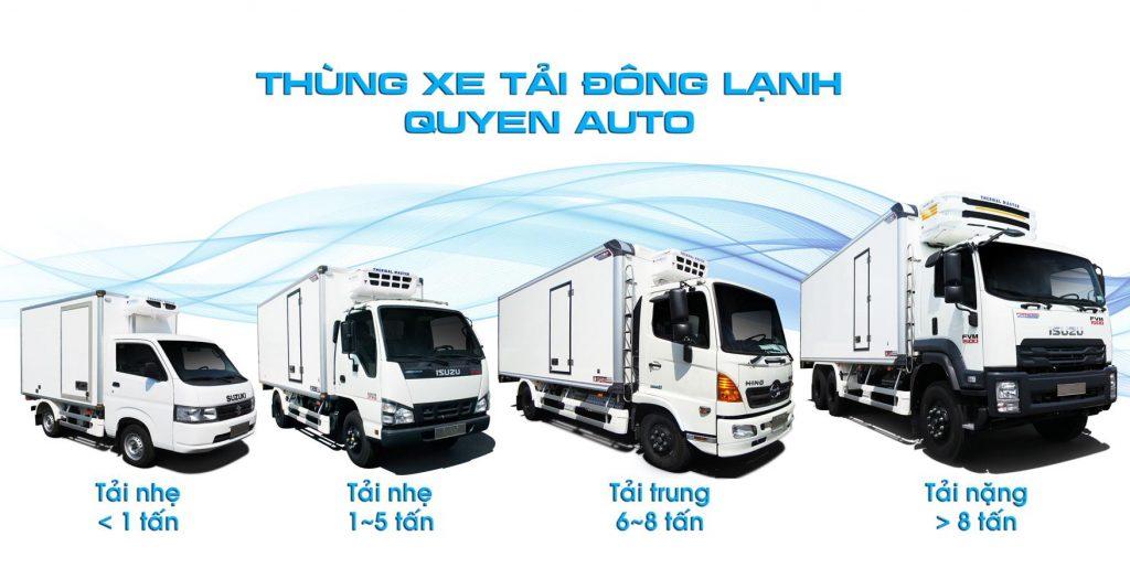 Quyền auto là đơn vị hàng đầu thiết kế và đóng thùng xe tải đông lạnh tại việt nam