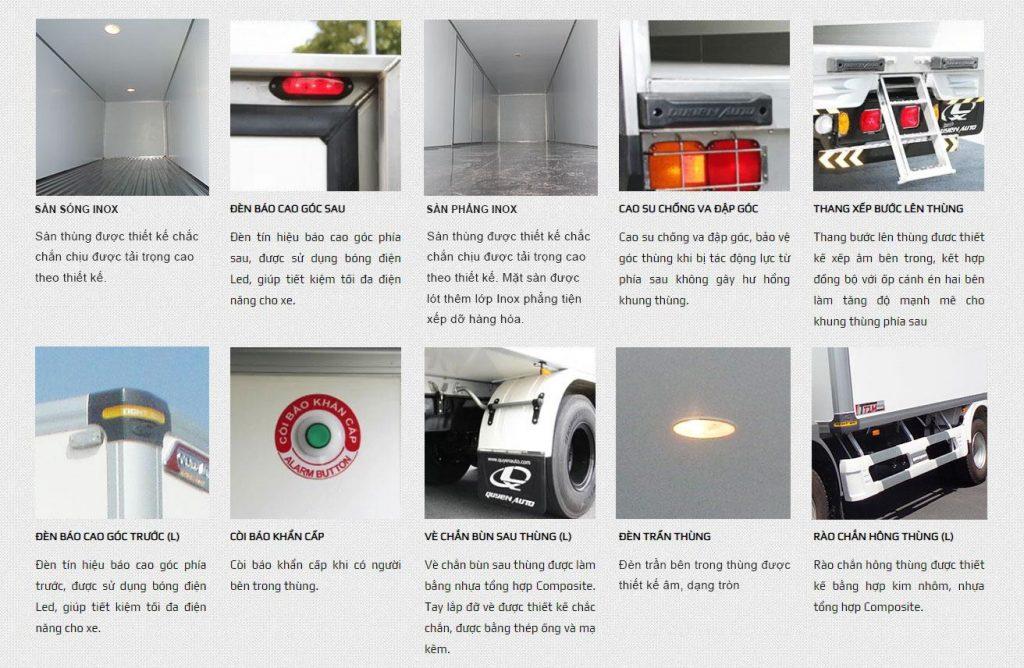 tiêu chuẩn thùng xe tải kín