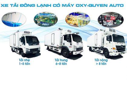 Top xe tải đông lạnh bảo ôn có máy oxy được ưa chuộng nhất